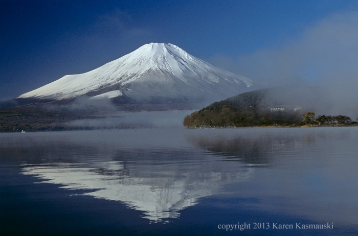 This is the traditional view of Fuji--pristine and spiritual.