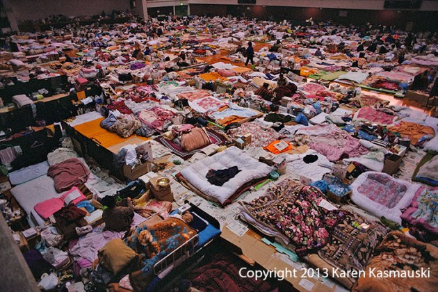 Thousands found shelter in public schools after the Kobe Earthquake.