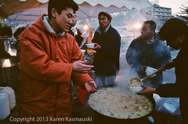 For the survivors of the Kobe quake a bowl of soup may have been their only hot meal each day.
