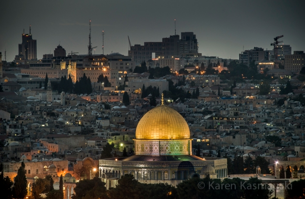 Dome of the Rock , a holy site in East Jerusalem.