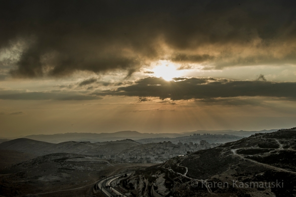 Looking towards the West Bank from East Jerusalem.