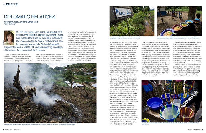 My Nikon World column on Sierra Leone