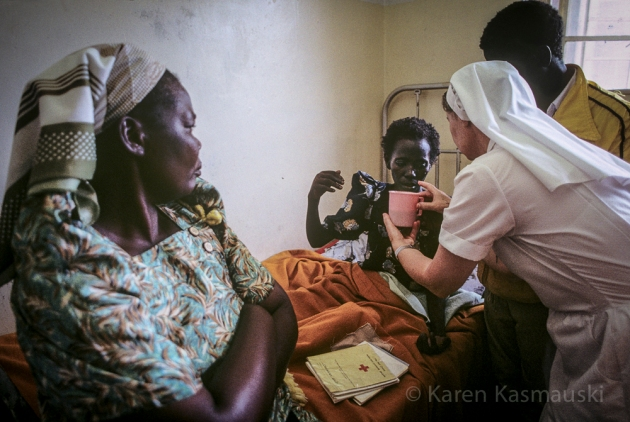 In the early 1990's, an Irish Catholic nun gives care in a rural Ugandan hospital.
