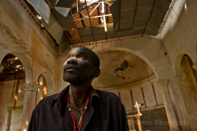 In the South Sudan village of Palotaka, Jonas James who is a nurse, hopes for peace, so that a priest might return to the village church.