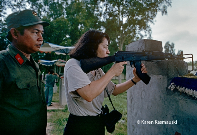 In Vietnam I fired one shot from an AK-47 at a tourist attraction operated by the Vietnamese Army.