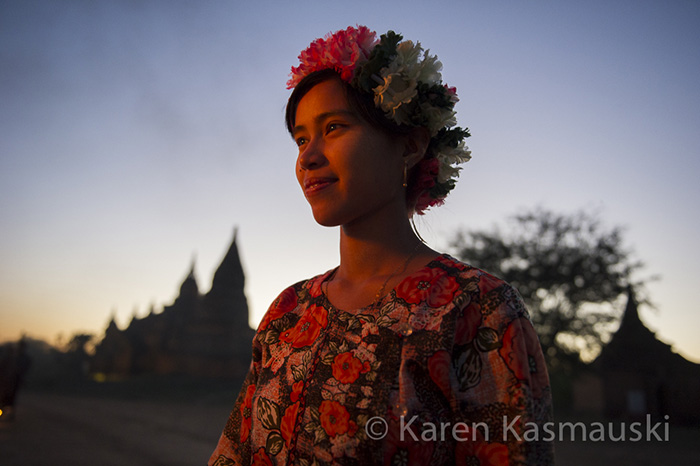 Young Burmese dancer at Bagan